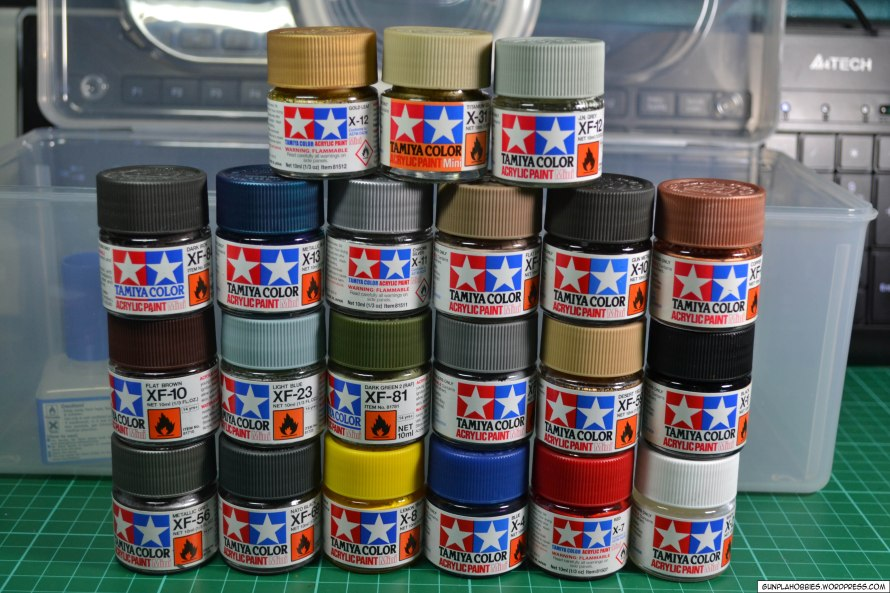 Model Car Acrylic Paint Set