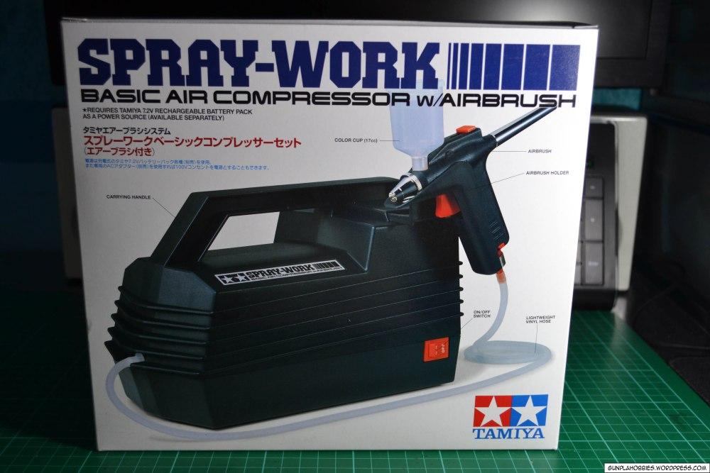 Tamiya Spray-Work Basic Air Compressor w/ Airbrush Review (1/6)